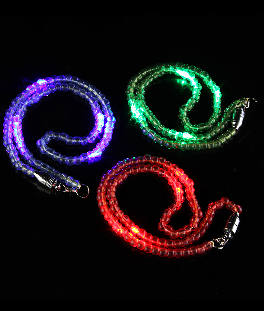 Fun Central AM613 LED Light Up 25 Inch Bead Necklace - Assorted