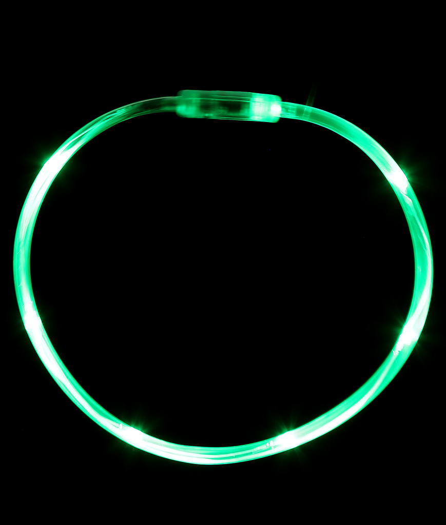 LED Light Chaser Necklace - Green