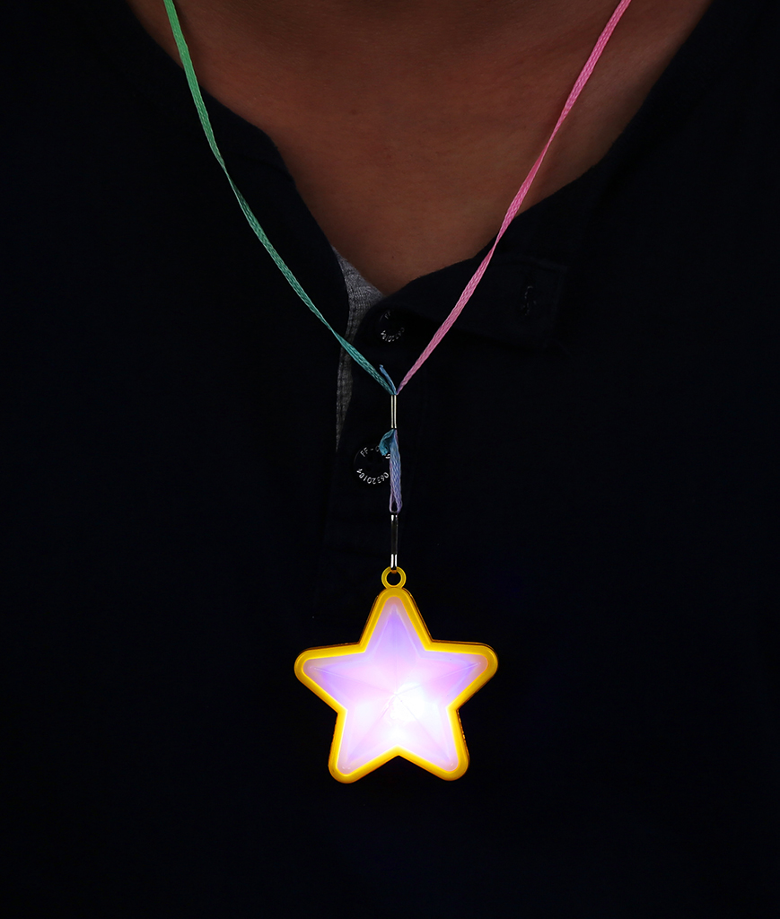 LED Flashing Star Necklaces