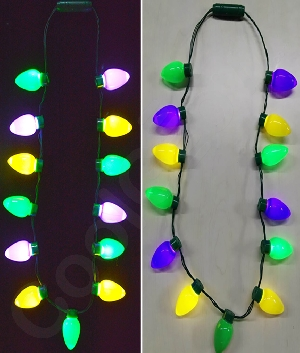 LED Mardi Gras Bulb Necklace