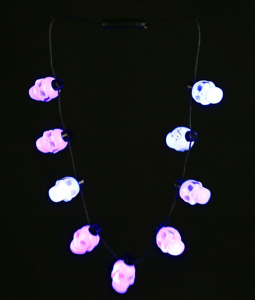 LED Skull Necklace - Blue