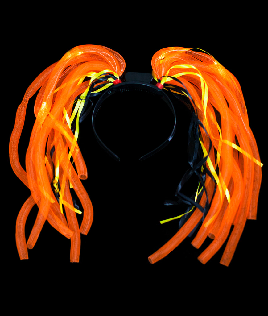 Fun Central V077 LED Light Up Party Dreads - Orange