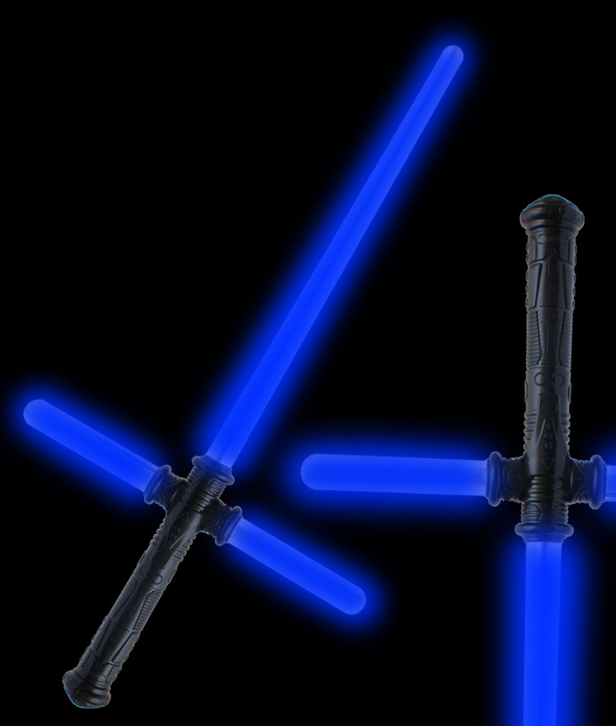 LED 28 Inch Tri-Saber with Sound - Blue
