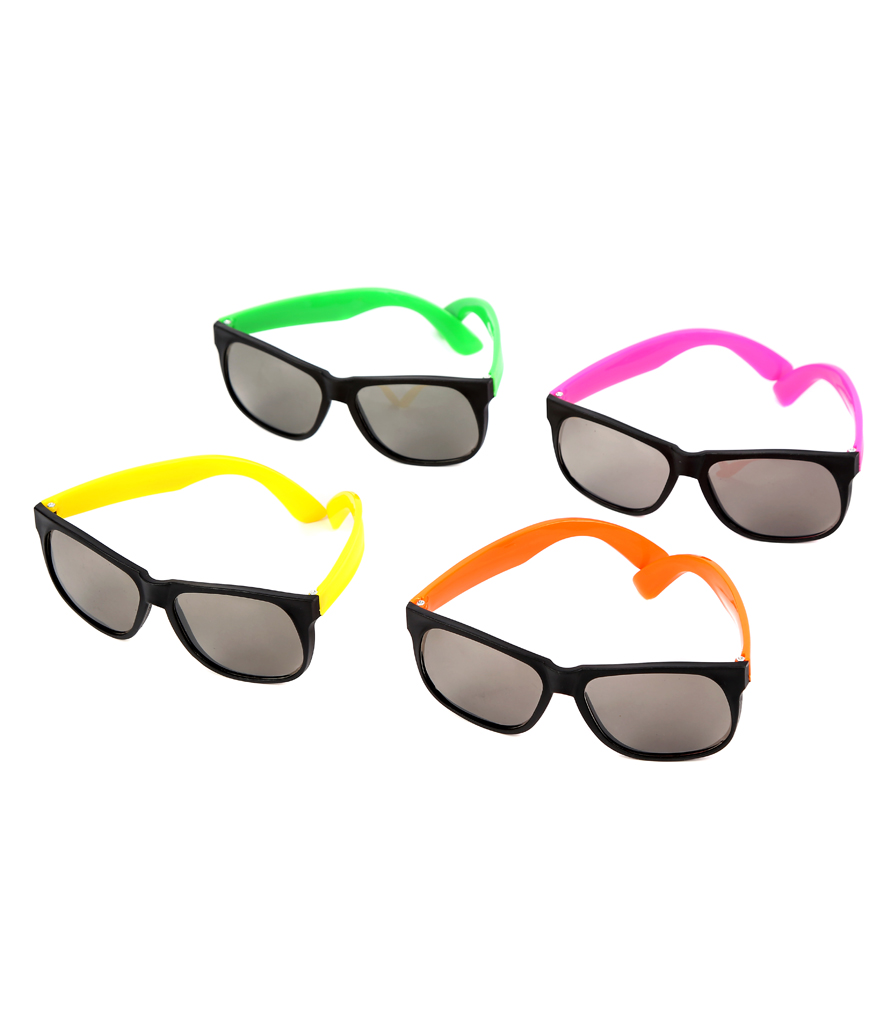 Neon Frame Sunglasses - Assorted 12ct