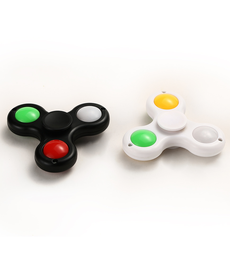 LED Finger Spinner - Black and White