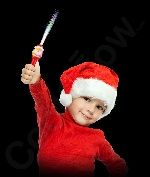 LED Fiber Optic Wand - Santa