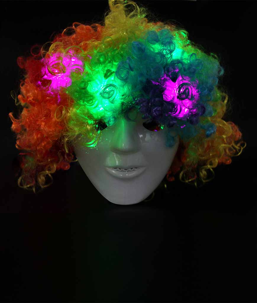 Fun Central AD152 LED Light Up Afro Wig - Multicolor