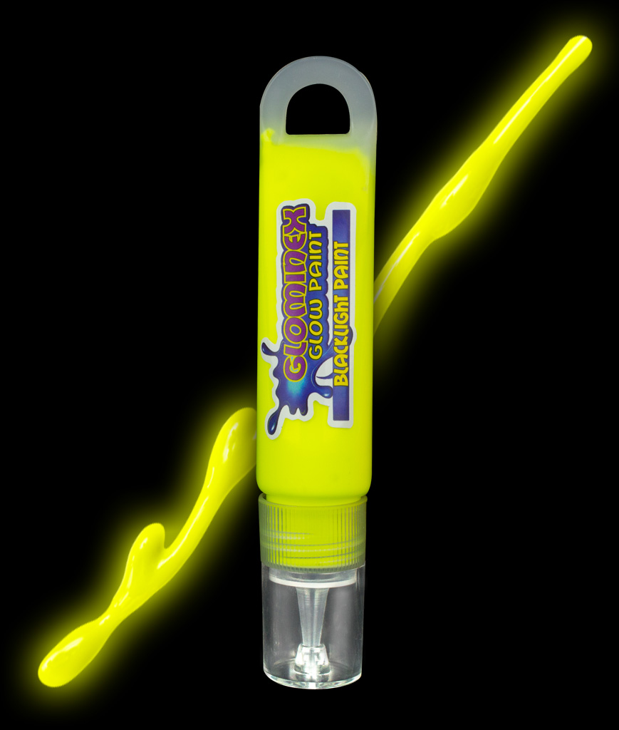 Glominex Blacklight UV Reactive Paint 1 oz Tube - Yellow