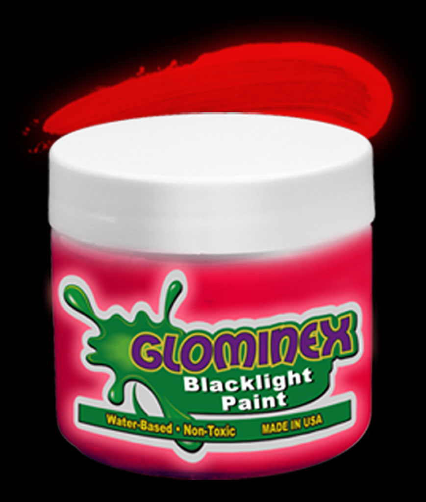 Glominex Blacklight UV Reactive Paint Pint - Red