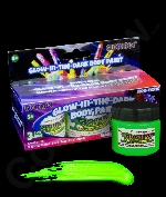 Glominex AM620 Glow in the Dark Body Paint 1oz Jars - Retail Ready 3 Pack