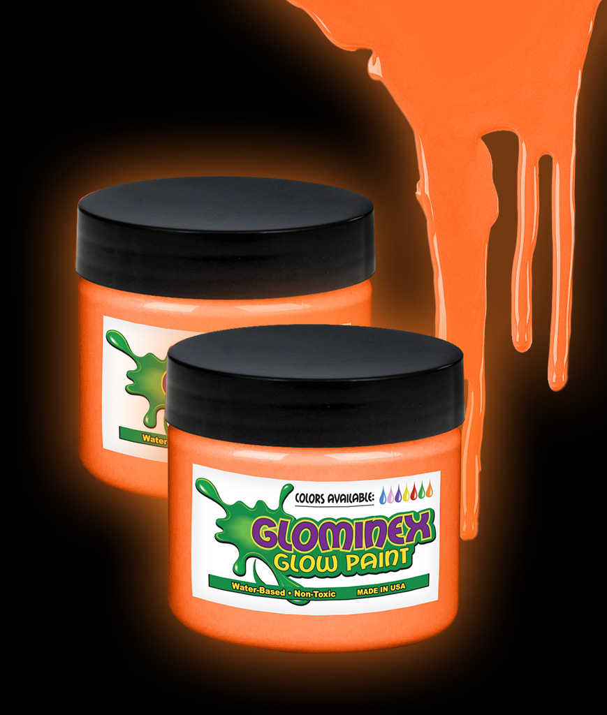 Glominex Glow Paint 2 oz Jar - Orange