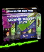 Glominex Glow Paint 1oz Tubes - Retail Ready 6 Pack