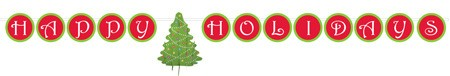 Christmas Tree Slice Banner