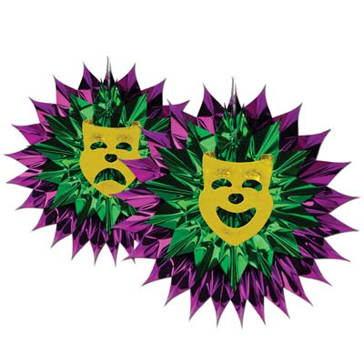 Mardi Gras Fan Burst