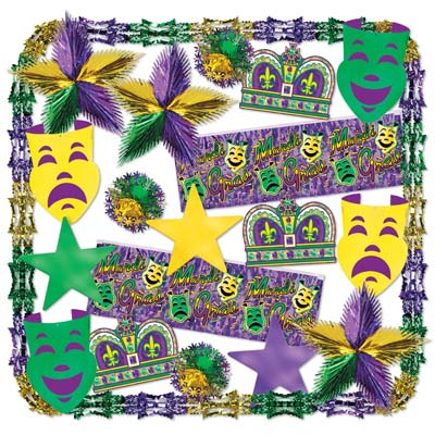 Mardi Gras Met Decorating Kit - 22 Ct
