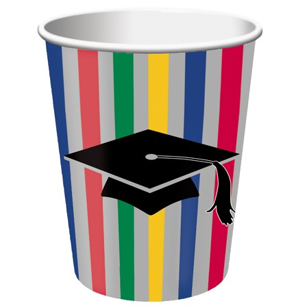 Graduation Stripes 9 Oz HotCold Cup