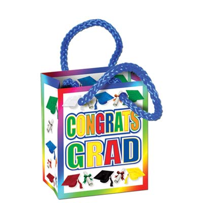 Congrats Grad Mini Gift Bag Party Favors 2 x 3 x 1