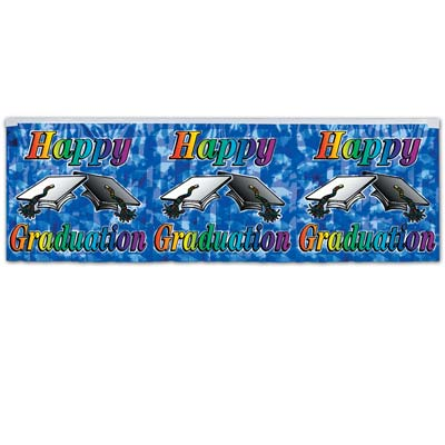 FR Met Happy Graduation Fringe Banner 14 x 4'