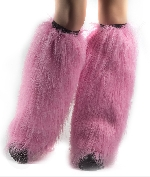 Furry Leg Warmers - Neon Pink