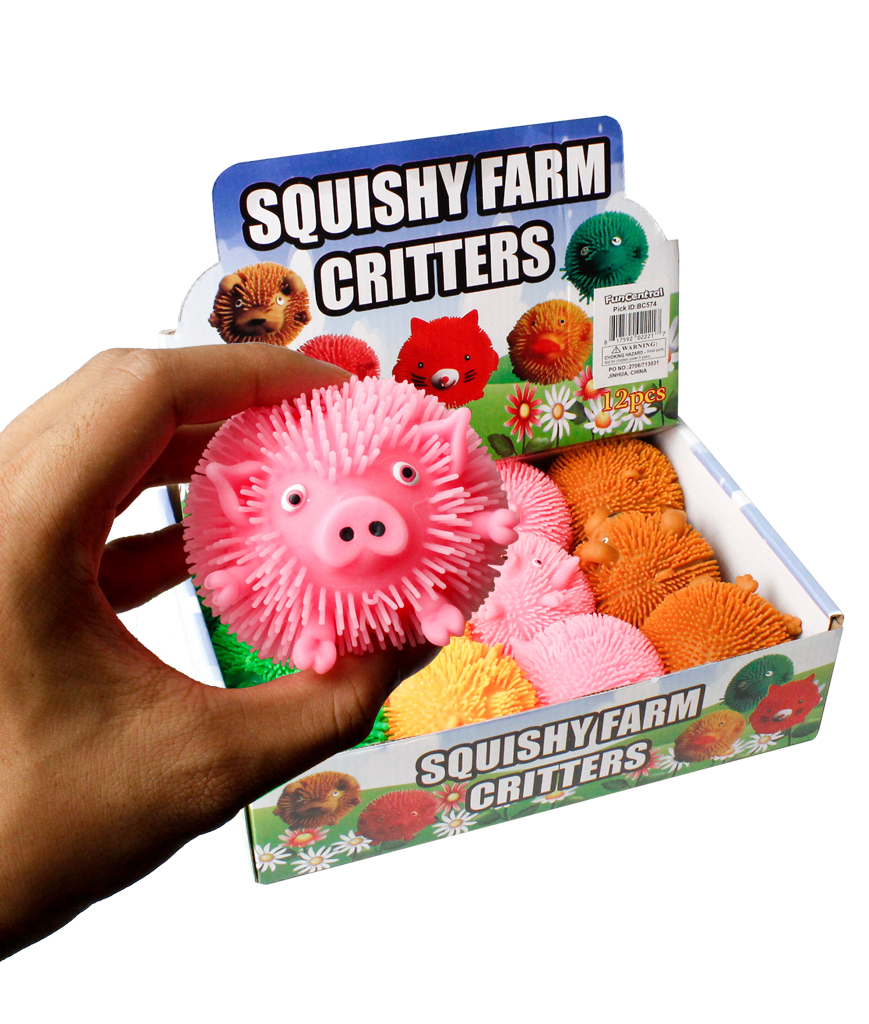 Squishy Farm Critters Assorted - 12pc