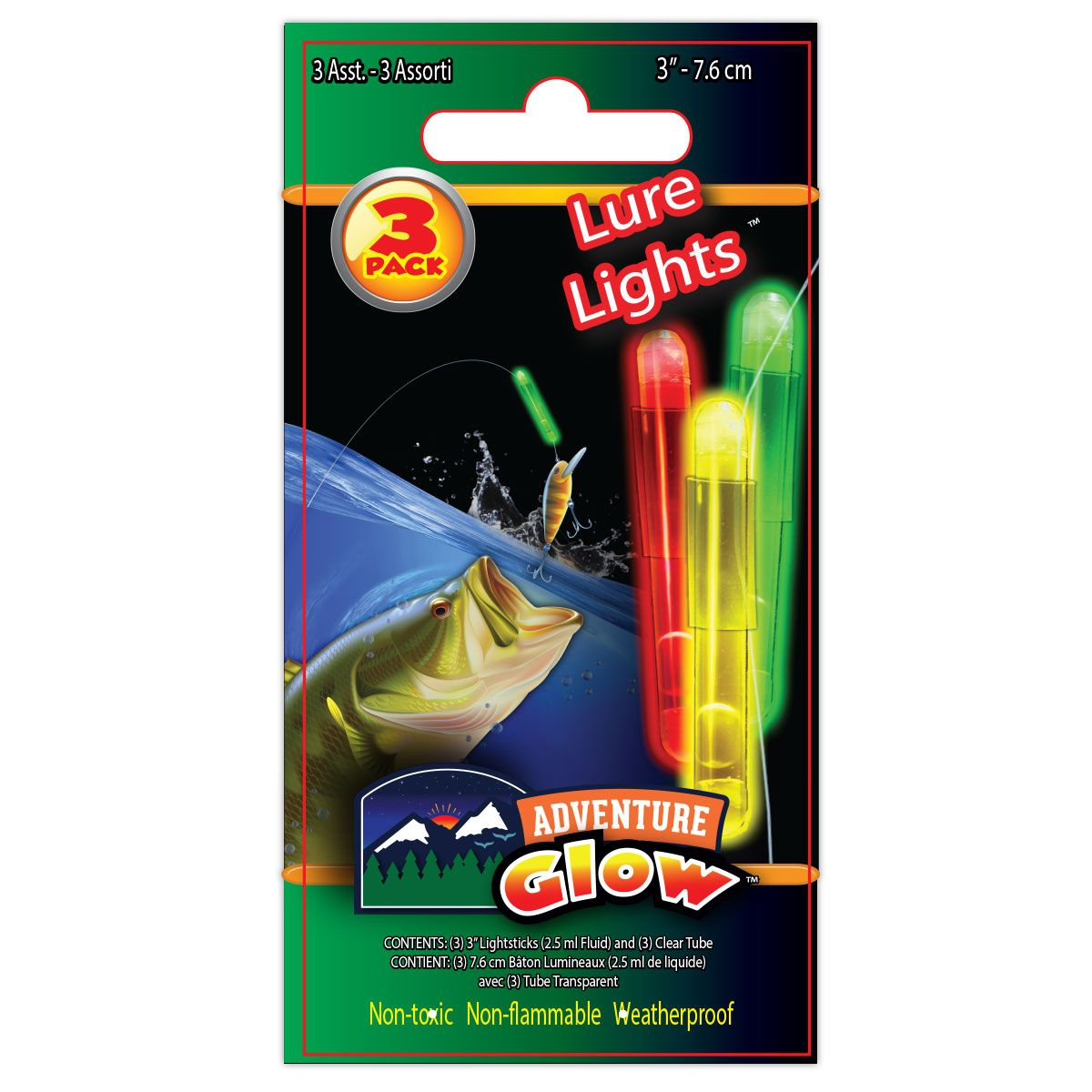 "3PK 3"" ASST'D LURE LIGHT"