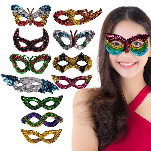 SEQUIN HALF MASKS
