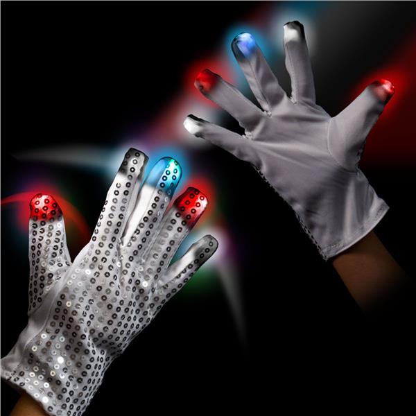 RWB LED SEQUIN GLOVE-RT HAND