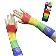 RAINBOW FISHNET GLOVES