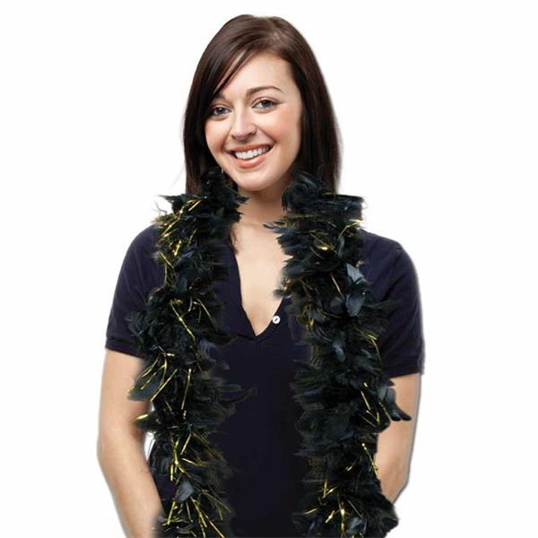 6' BOA - BLACK WGOLD TINSEL
