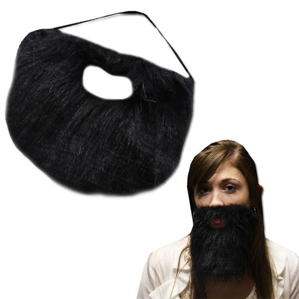 7 INCH BLACK BEARD W ELASTIC BAND