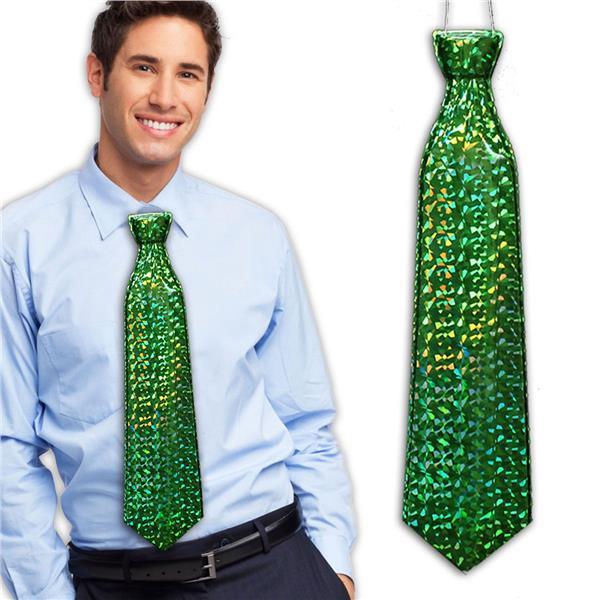 GREEN PRISMATIC PLASTIC TIE
