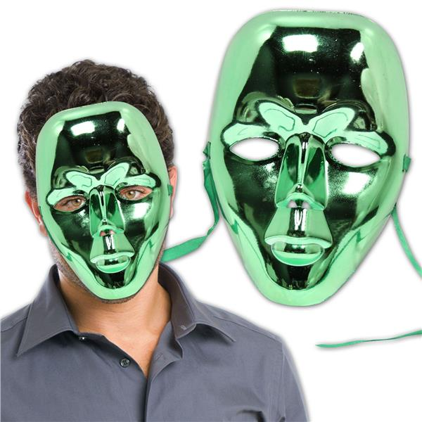 GREEN METALLIC FULL FACE MASK