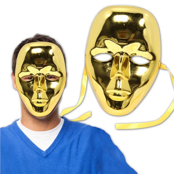 GOLD METALLIC FULL FACE MASKS