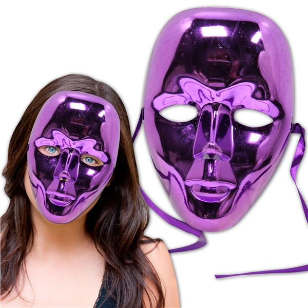 PURPLE METALLIC FULL FACE MASKS