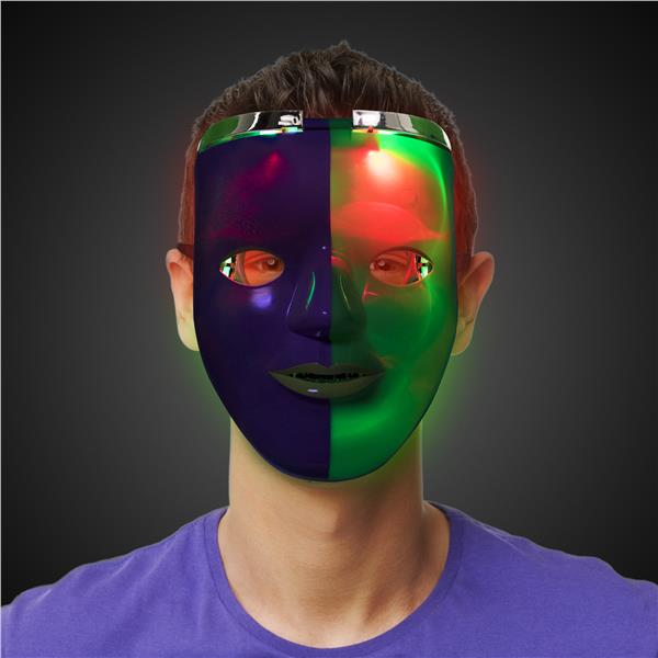 MARDI GRAS DOUBLE FACE MASK W