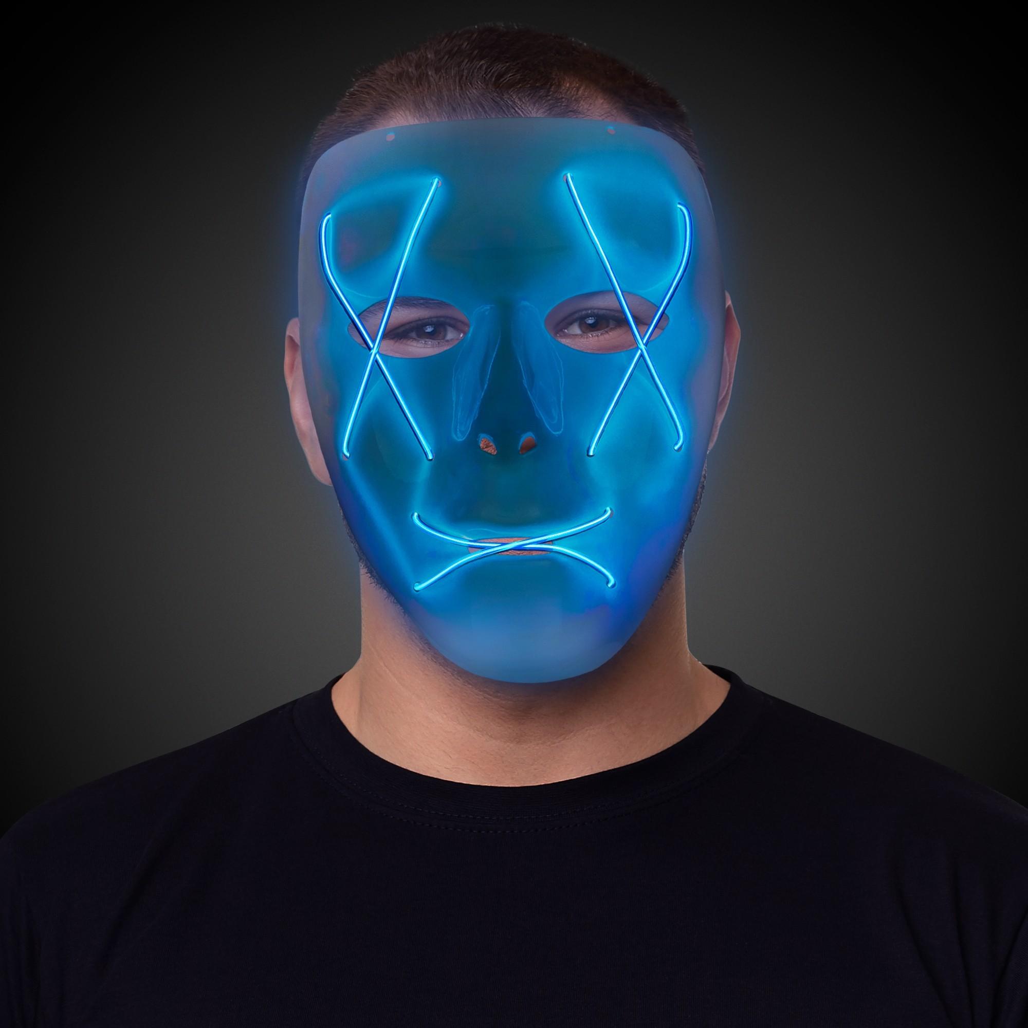 EL WIRE MASK - BLUE EL WIRE