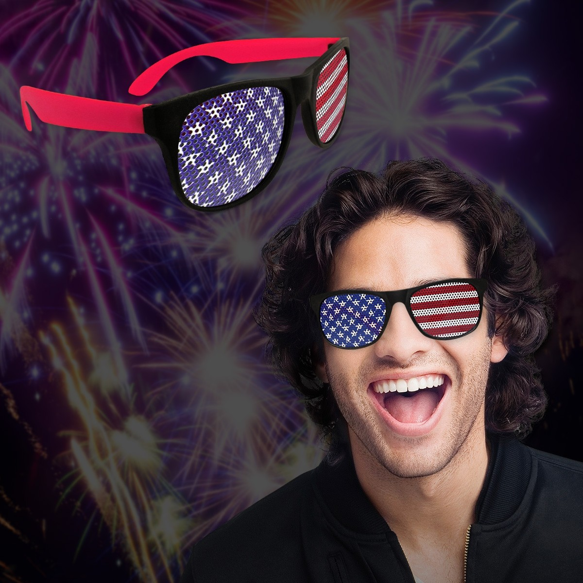 American Flag - Print Sunglasses