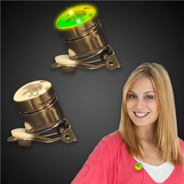 JADE AND YELLOW ROUND LED AND LIGHT - UP BLINKY