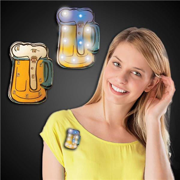 LED BEER MUG BLINKY - 12 PACK