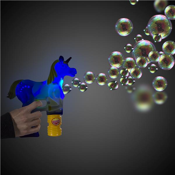 WHITE UNICORN BUBBLE GUN-GOLD