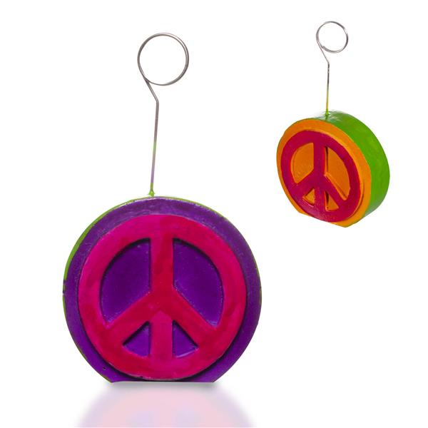 PEACE SIGN PHOTO BALLOON HOLDR