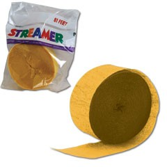 BUTTERCUP YELLOW CREPE STRMER