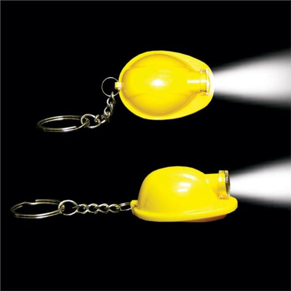 YELLOW SAFETY HELMET KEYCHAIN