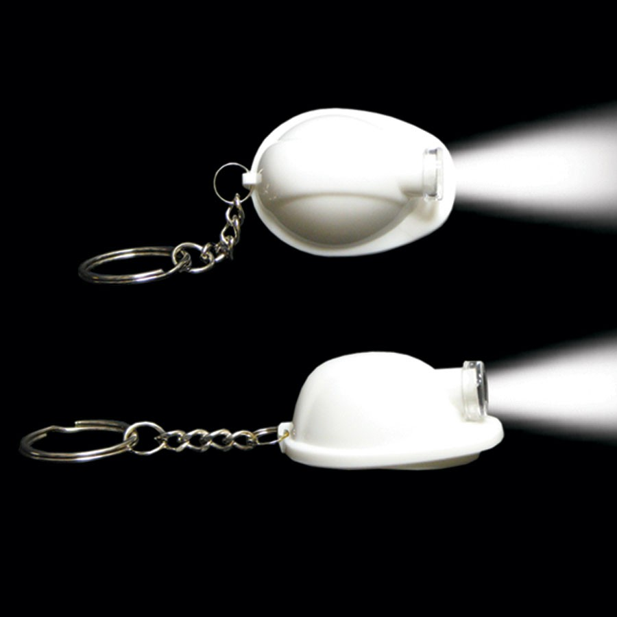 WHITE SAFETY HELMET KEYCHAIN