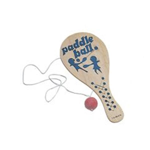 9 INCH WOOD PADDLEBALL GAME