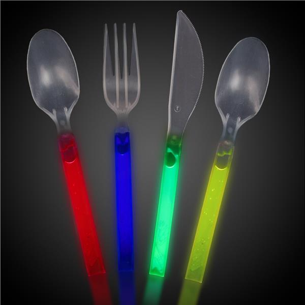 12PCS GLOW CUTLERY SET- ASST.