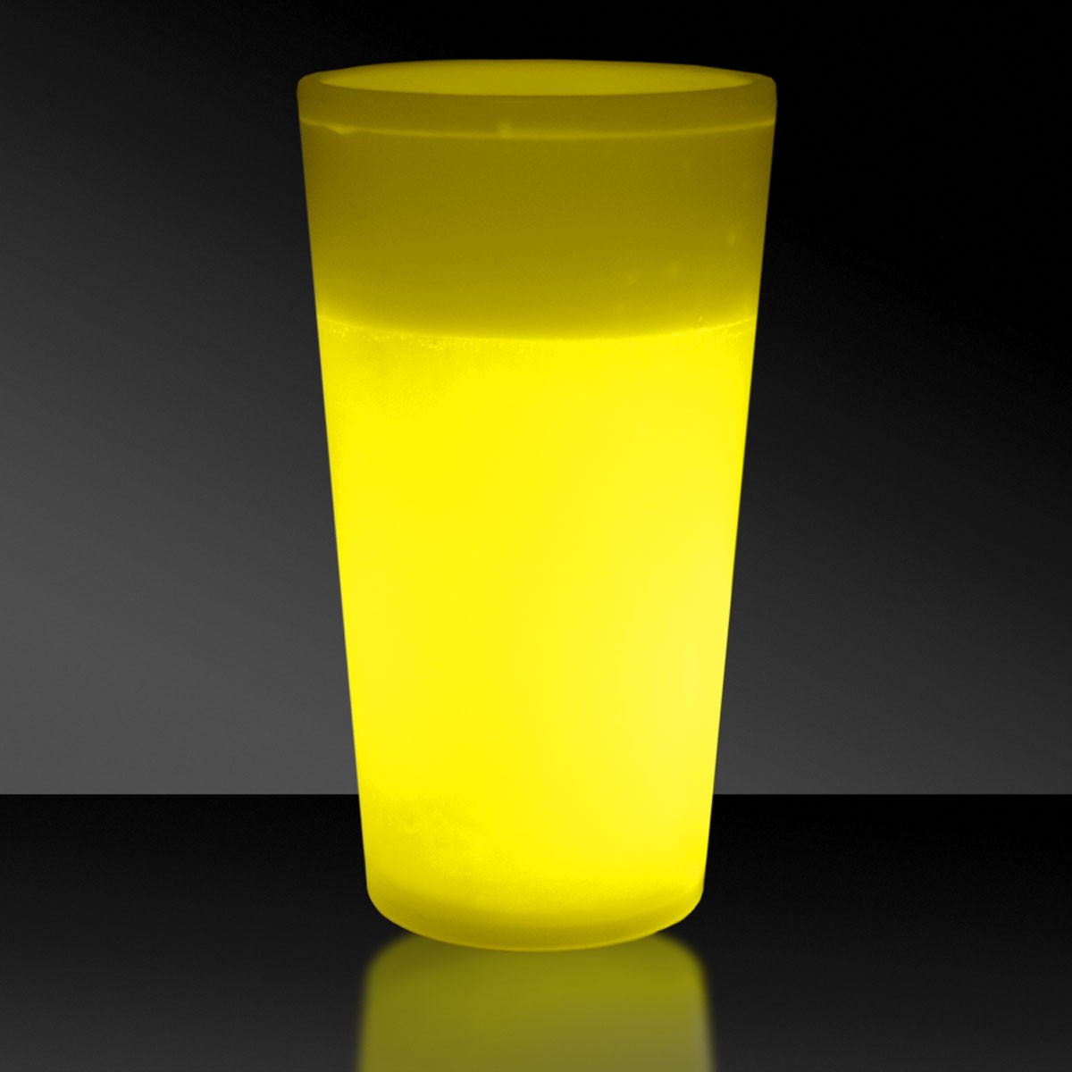 NEW - 12 OZ. YELLOW GLOW CUP
