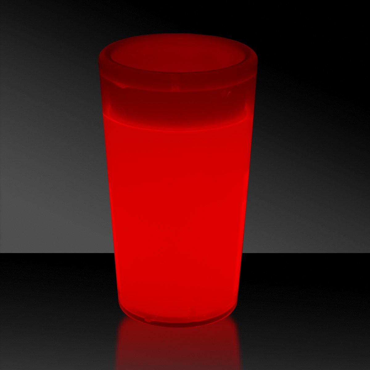 RED-TAPERED GLOW SHOT GLASS