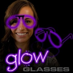 GLOW EYEGLASSES PURPLE