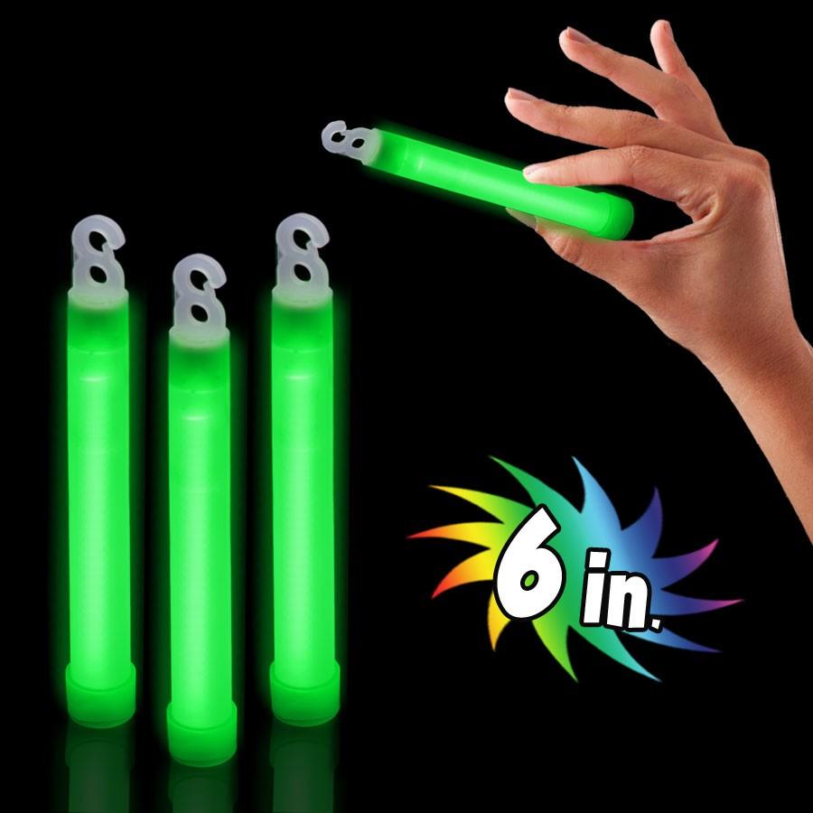 6 GREEN PREMIUM GLOW STICK